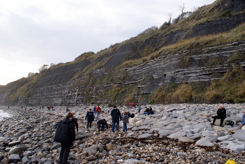 Fossil hunting on Jurassic Coast. Photo by jlcwalker (Flickr)