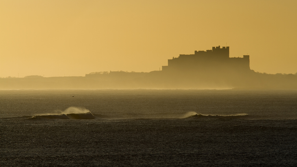 Bamburgh Castle. Photo by David-White (Flickr)