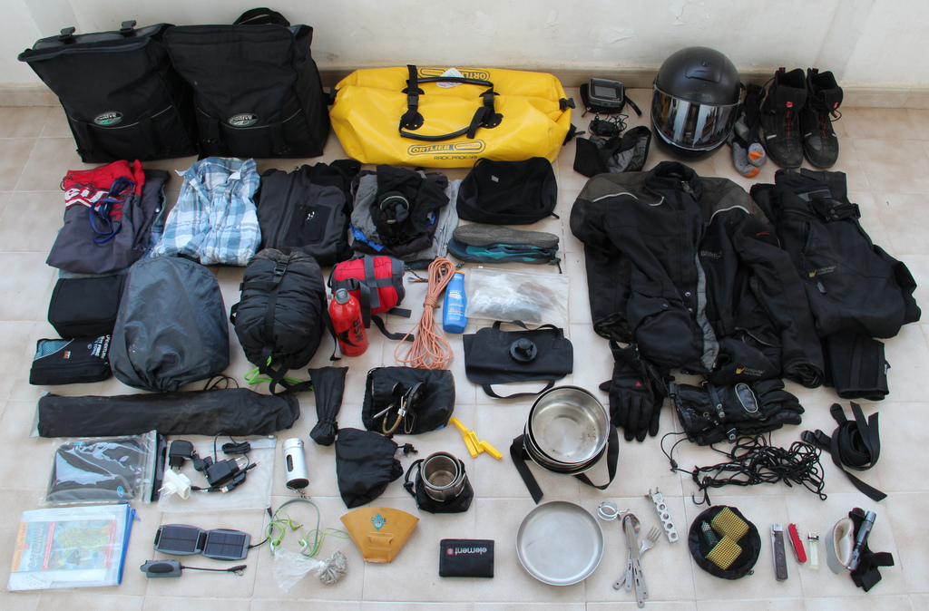 camping equipment bags