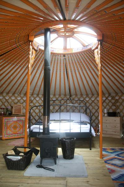 Slumming it at Somerset Yurts