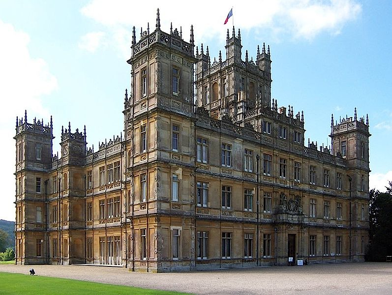 The Downton pad, Highclere Castle. Pic by JB + UK_Planet.