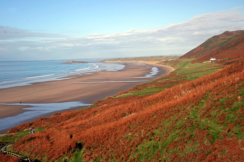 Rhossili in autumn. Pic by PDTillman/Kevin Foster.