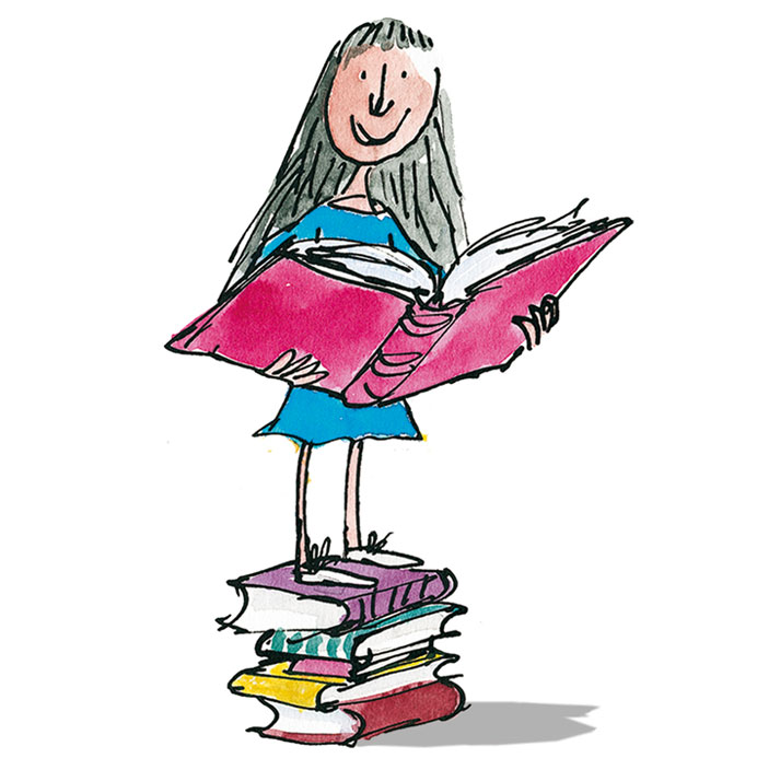Roald Dahl's Matilda has the right idea... Pic © Quentin Blake; used with permission.