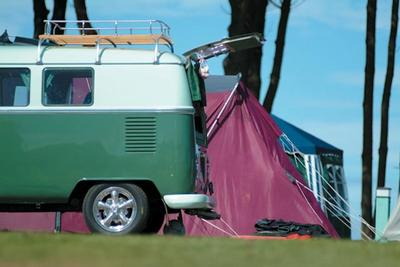 Camper van at Hendra Holiday Park, Newquay