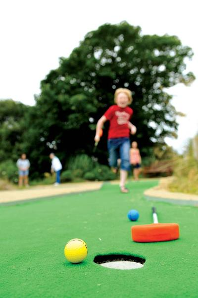 Crazy golf at Twitchen House Holiday Park, Woolacombe