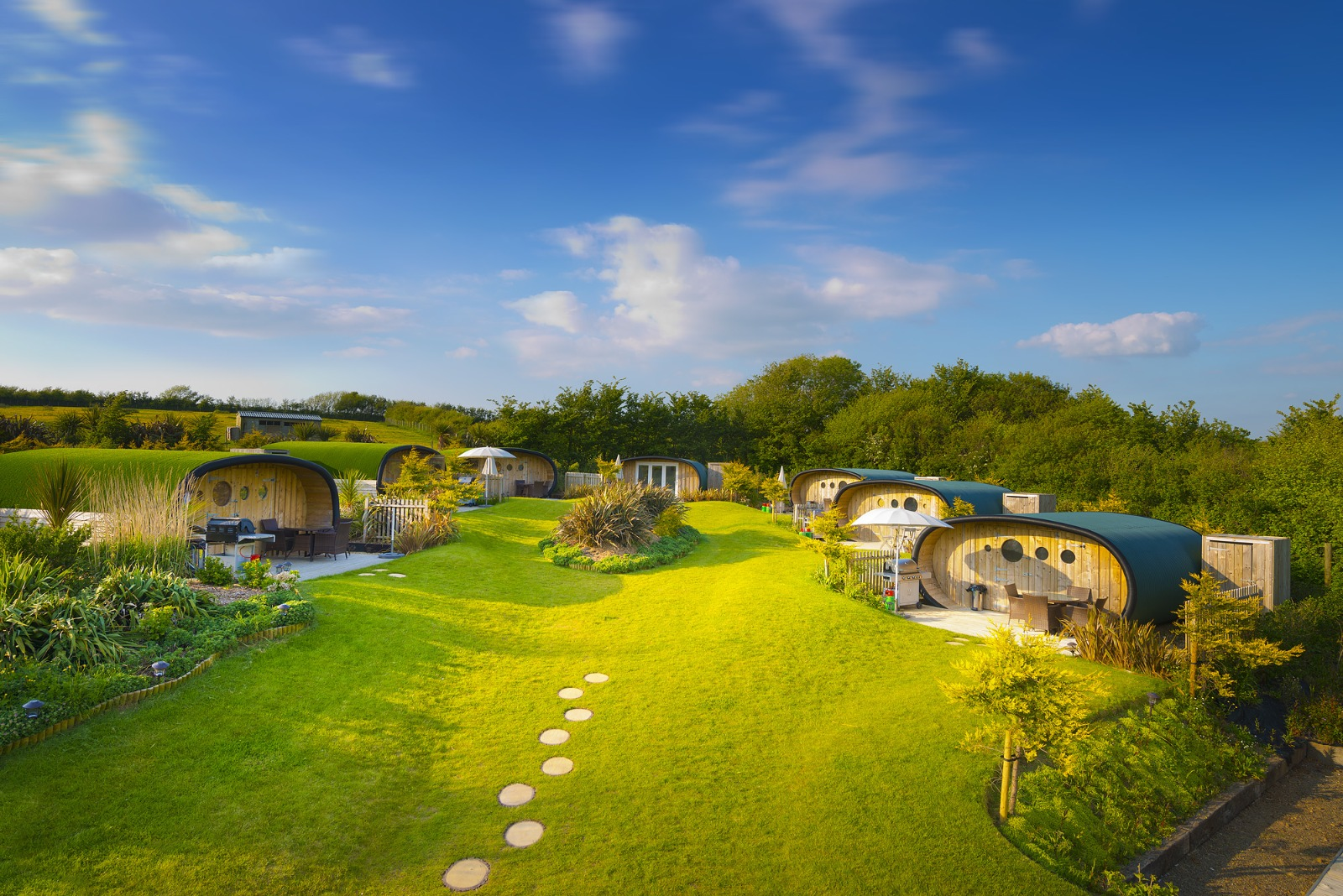 One of our farm campsites, Atlantic Surf Pods in Bude