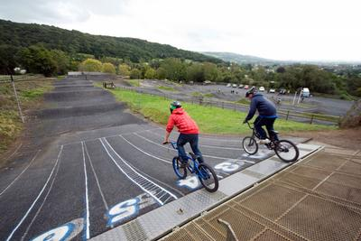 BMX track at Broadway House Holiday Park, Cheddar