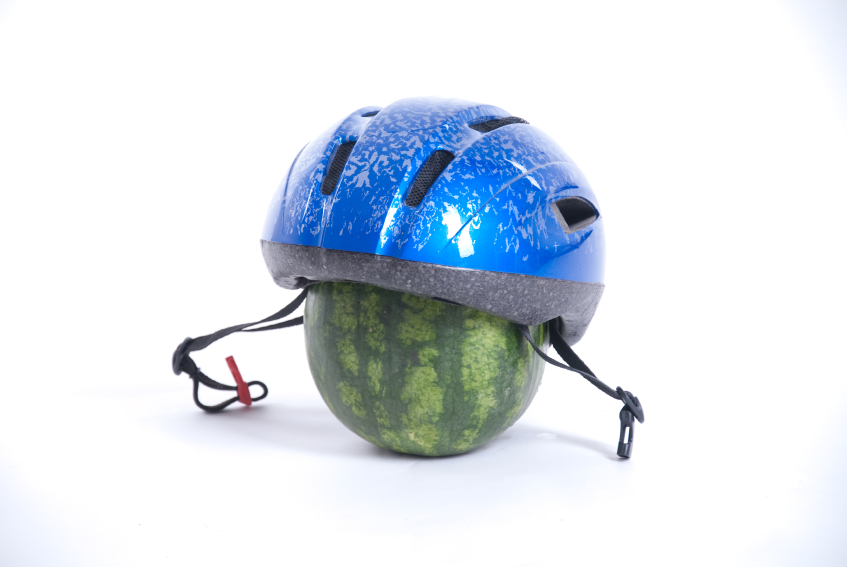 Don't forget your helmet