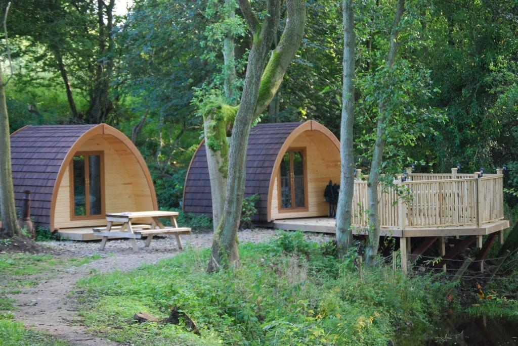Camping pods at Bryn Dwr, North Wales