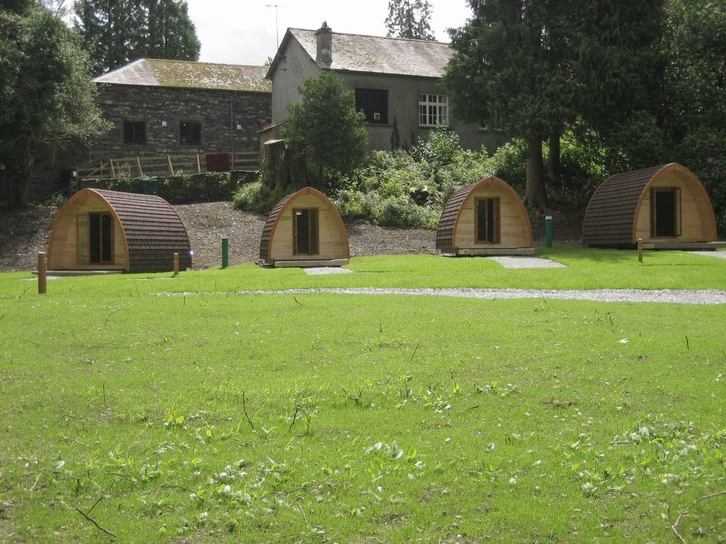Camping pods at Hawkshead