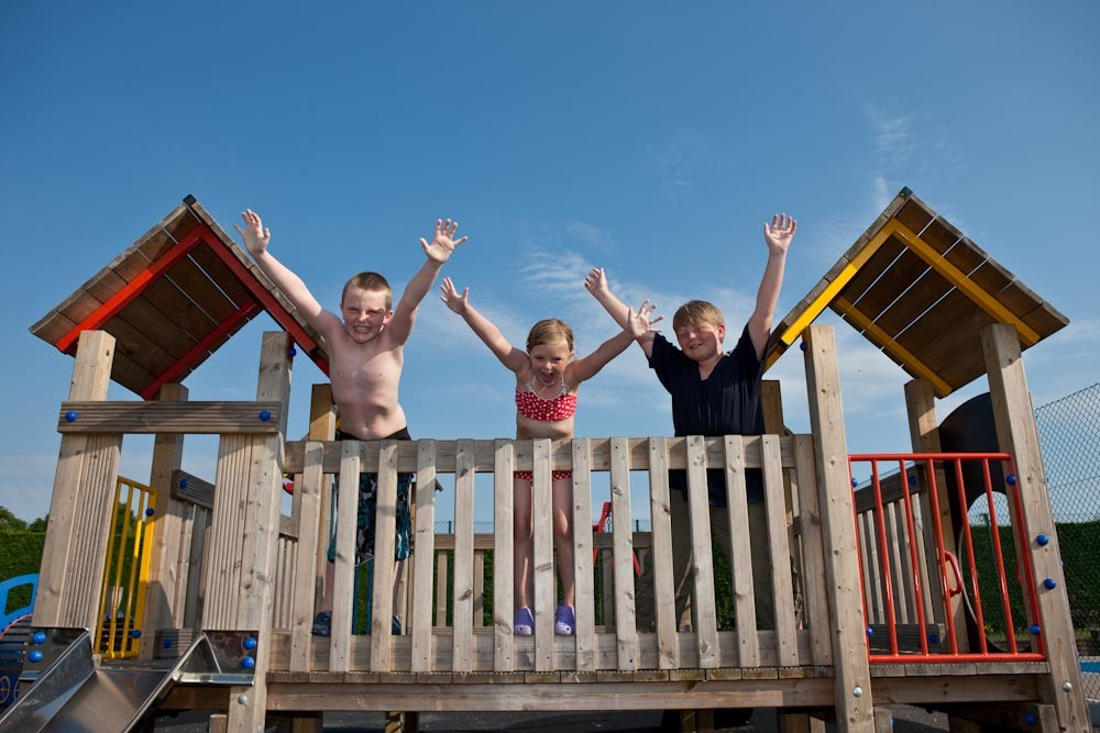 Children at Merley Court Touring Park, Dorset