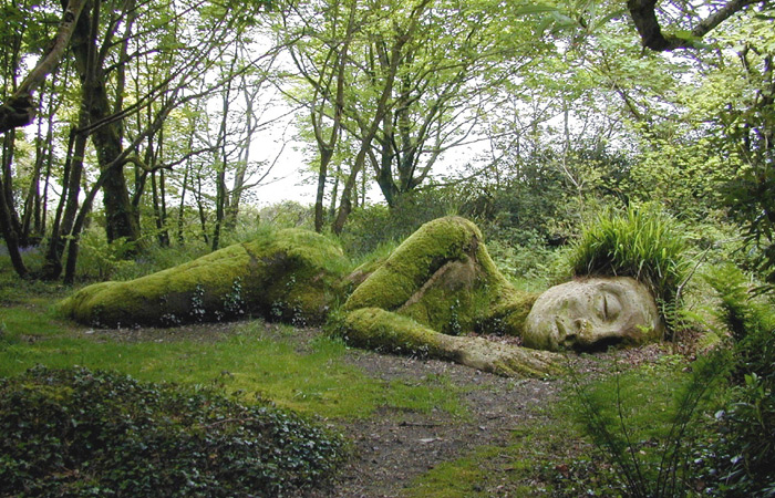 Mud Maid at Heligan. Pic © Lost Gardens of Heligan.