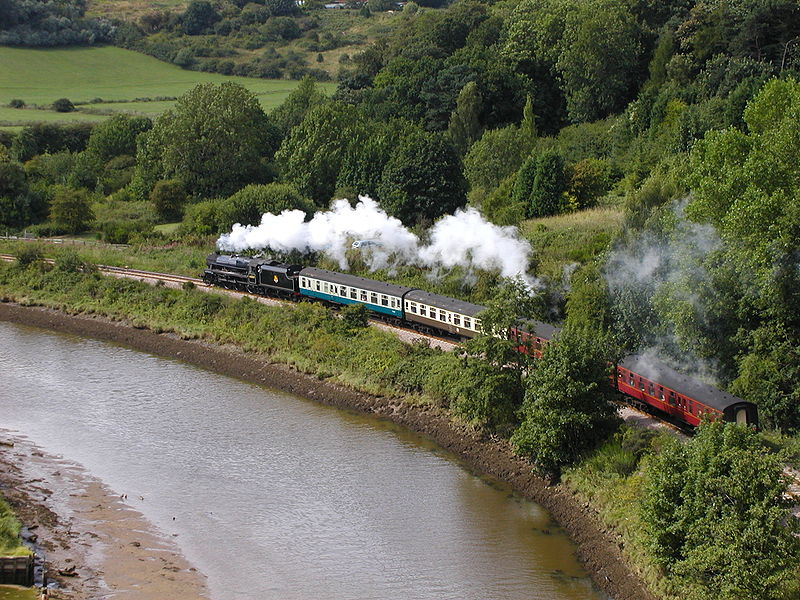 North Yorkshire Moors Railway en route from Whitby. Pic by Chris075 via Wikimedia Commons.
