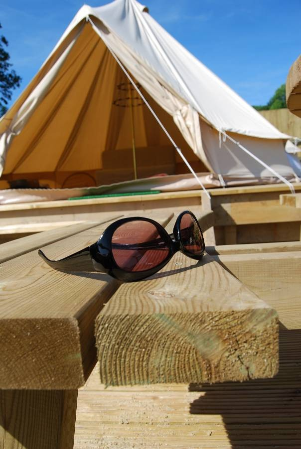 Bell tent at Little Upton Boutique Belltents, Cornwall