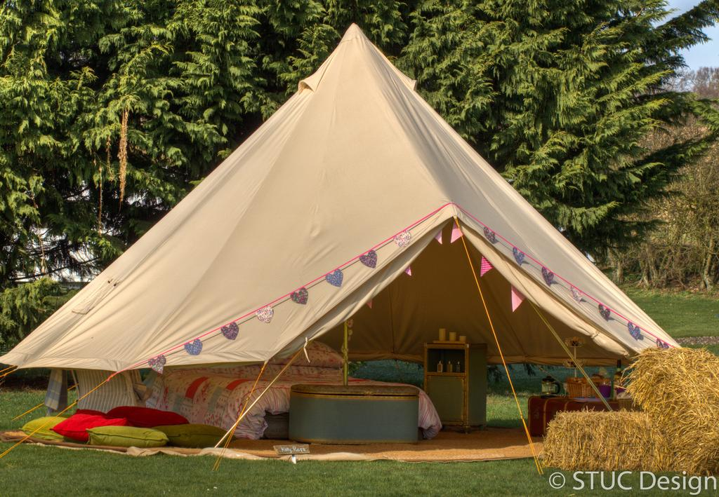 Bell tent at Magical Camping, Norfolk