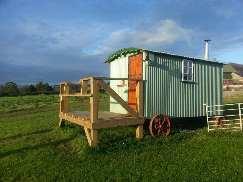 Shepherd's hut at Little Oak Yurts