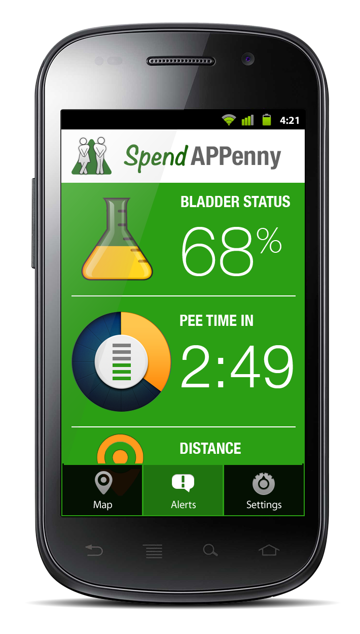 The Spend APPenny app in action