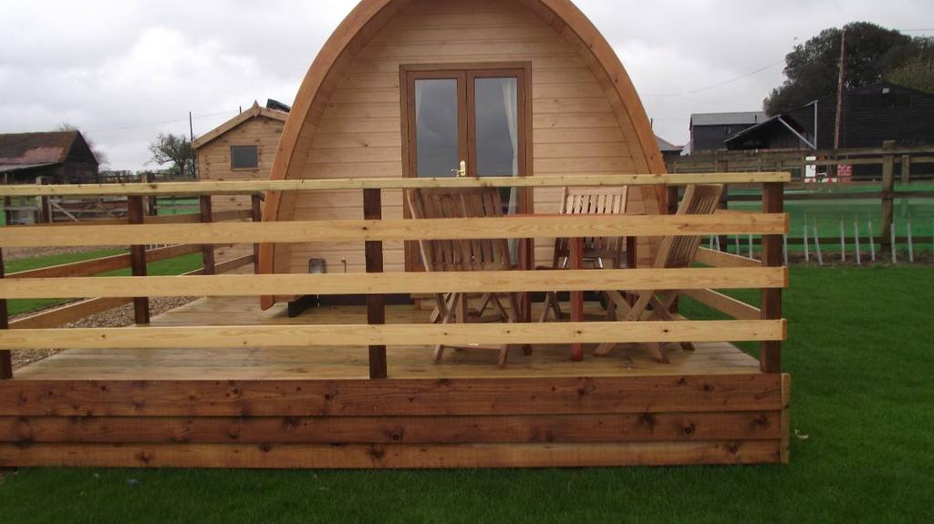 The pod at Lee Wick Farm