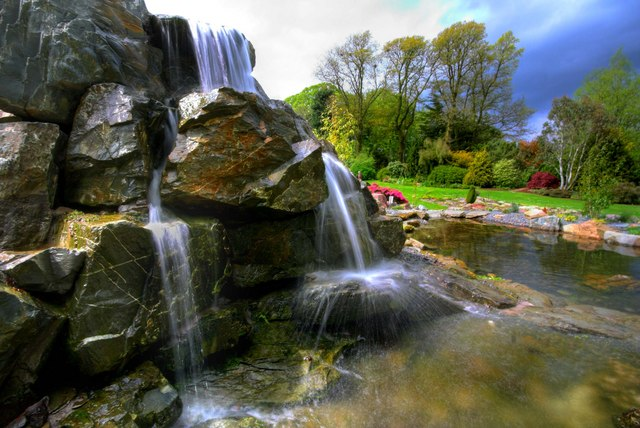 Waterfall in Threave Gardens. Pic by Duncan McNaughton.