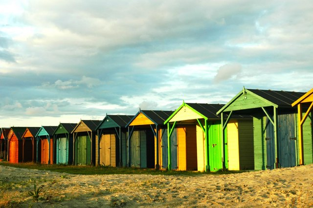 Huts at West Wittering. Pic by David M Moore.
