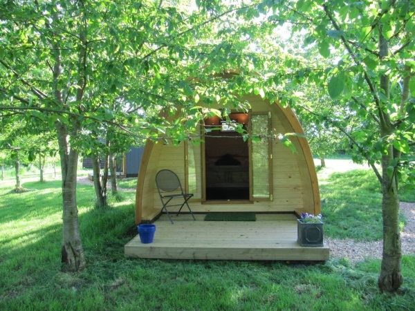 Camping pod at Wootton Park